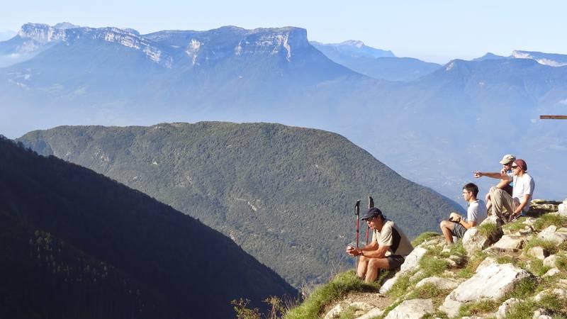 10h00 - au sommet, vue sur le vercors