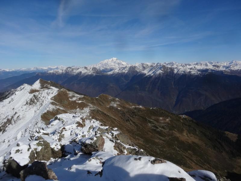 Du sommet, vue sur le Mont Blanc (13h28)