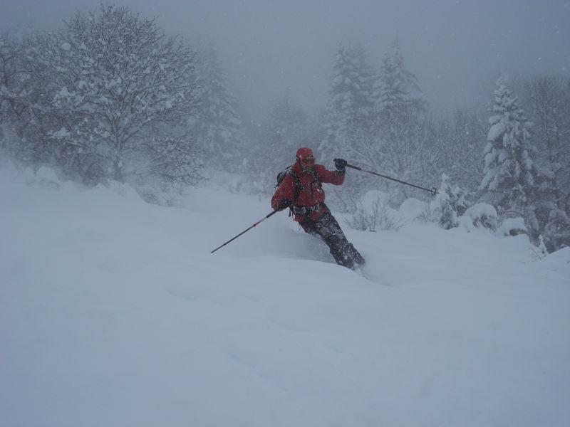 Guilhem à l'aise même en Ski