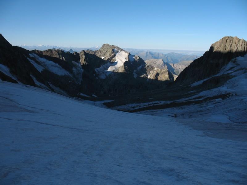 sur le glacier de Tré la Tête, le Mont Tondu