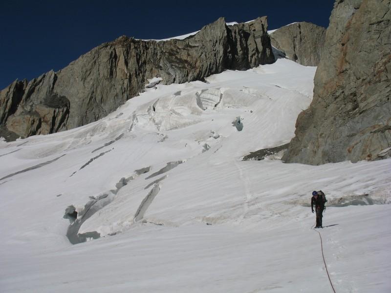 sur le glacier de Tré la Tête
