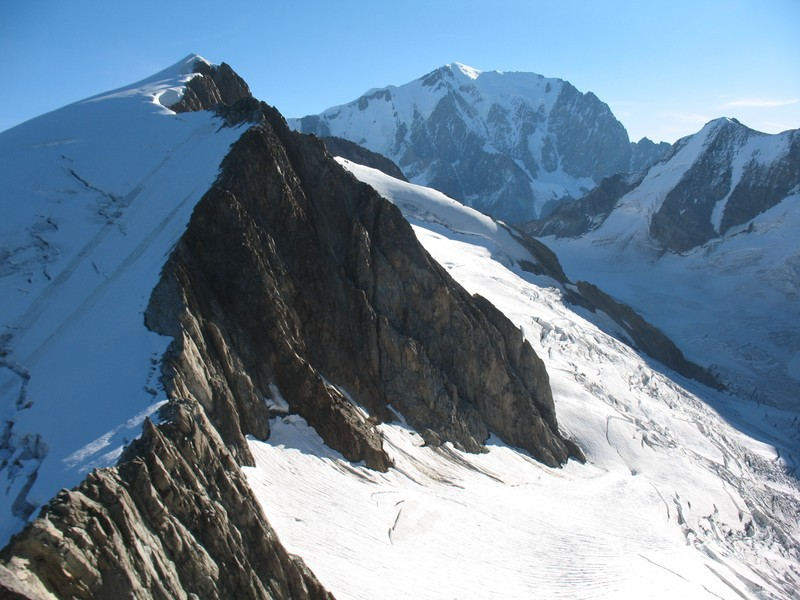 Dôme du Miage et Montblanc