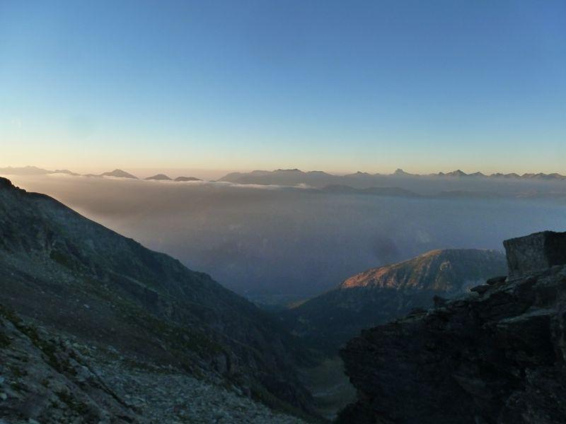 Vue du côté Italien depuis le col d'Ambin.